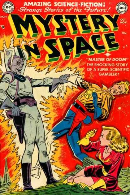 Mystery in Space 4 - Amazing Science Fiction - Dc - Master Of Doom - Alien - Super-scientific Gambler