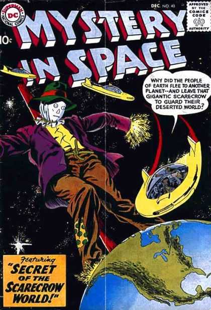 Mystery in Space 48 - Comics Code Authority - Dc - Speech Bubble - Scarecrow - Earth
