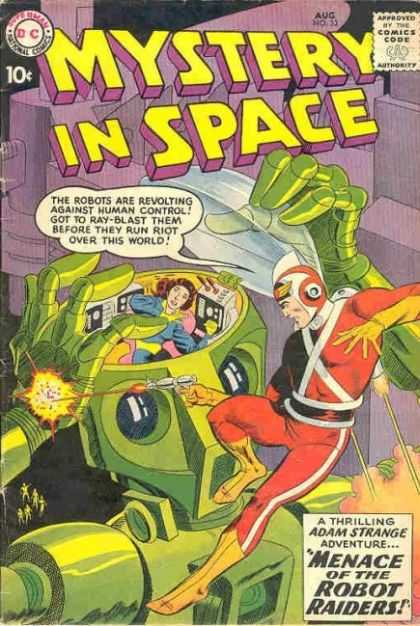 Mystery in Space 53 - Robot - Laser Gun - Girl - Menace Of The Robots Raiders - Control Panel