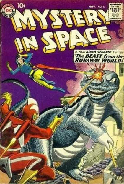 Mystery in Space 55 - Adam Strange - Thriller - The Beast From The Runaway World - Dinosaur - Shoot