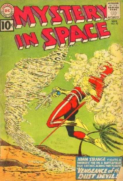 Mystery in Space 70 - Adam Strange - Dust Devil - Two Planets - Sand - Blowing