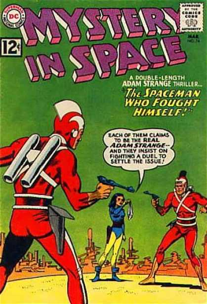 Mystery in Space 74 - Adan Strange - Triller - Sooting - Guns - Space Costumes