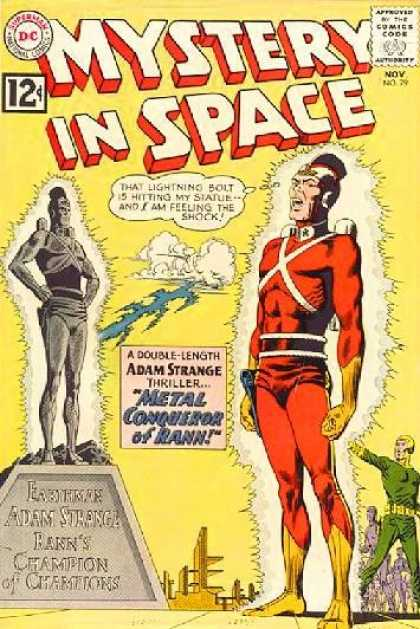 Mystery in Space 79 - Metal Conqueror Of Rann - Adam Strange - Double-length - Lightning Bolt - Statue