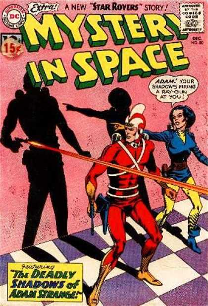 Mystery in Space 80 - Superman National Comics - Approved By The Comics Code - Star Rovers - Extra - The Deadly Shadows Of Adam Strange