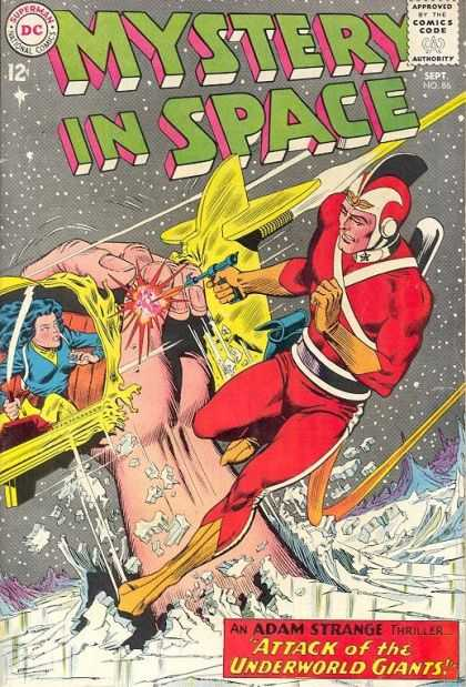 Mystery in Space 86 - Adam Strange - Alanna - Attack Of The Underworld Giants - Giant Hand - Ice