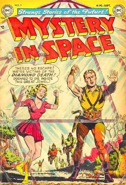 Mystery in Space 9 - Pretty Lady - Green Monsters - Man And Lady Trapped Behind Glass - Banging On Glass - Man In Yellow Tights