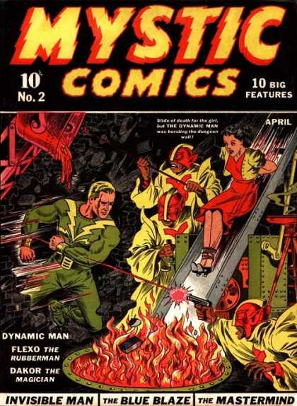 Mystic Comics 2 - Fire - Laser - Slide - Gun - Hostage - Alex Schomburg