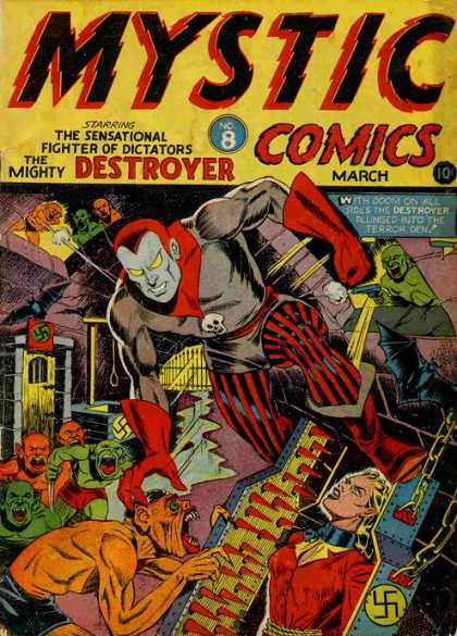Mystic Comics 8 - Swastika - The Sensational Fighter Of Dicatators - Coffin - Spikes - Chains