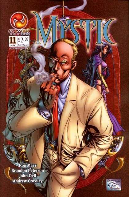 Mystic 11 - Smoking - Purple - Red Tie - Mirror Image - Receding Hairline - Brandon Peterson, John Dell
