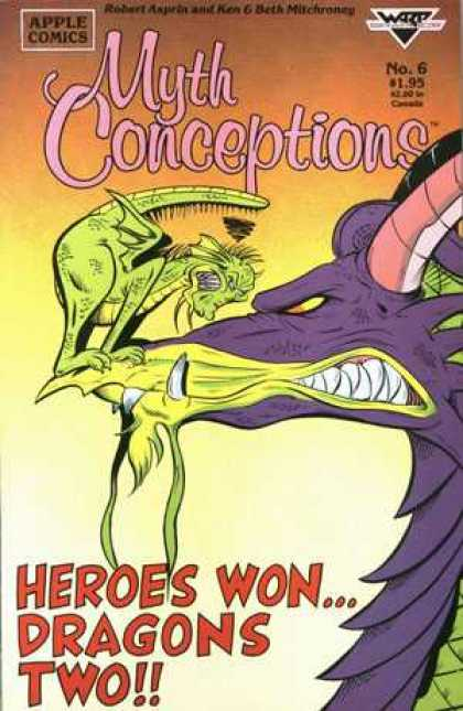 Myth Conceptions 6 - Apple Comics - Dragons - Heroes Won - No6 - Battle