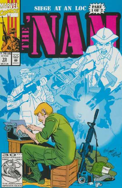 Nam 73 - Marvel Comics - Part 1 Of 2 - Seige At An Loc - Approved By The Comics Code Authority - 73 Oct
