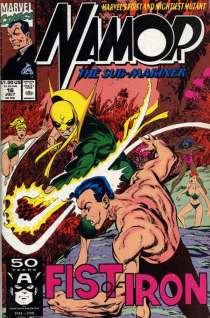 Namor 16 - Iron Fist - Slugfest - Mutant - Deadly Brawl - Fist Of Iron