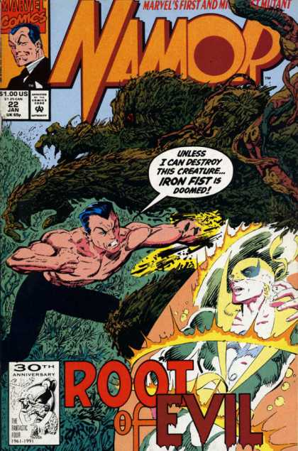 Namor 22 - Marvels First - Marvel Comics - Mutant - Approved By Comics Code - Root Of Evil