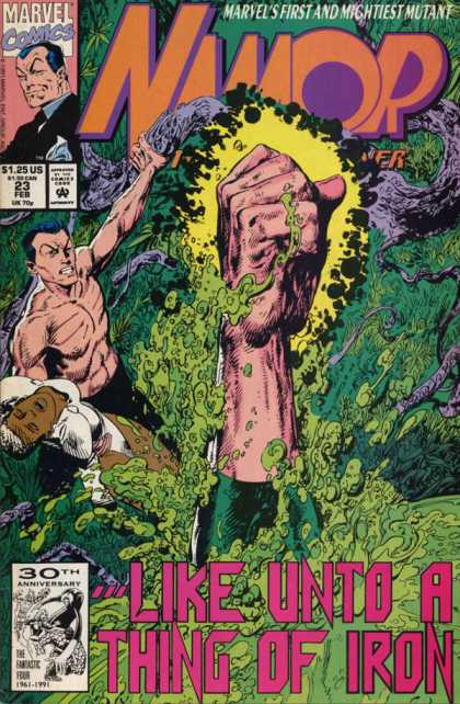 Namor 23 - Like Unto A Thing Of Iron - Fist - Waves - Splash - Grip