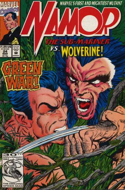 Namor 24 - Sub-mariner - Wolverine - Green War - Mutant - Leaves