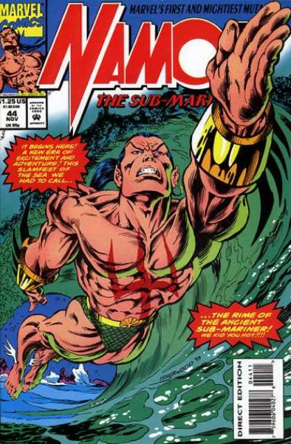 Namor 44 - Marvel Comics - Direct Edition - 125 Us - 44 Nov - The Rime Of The Ancient Sub-mariner