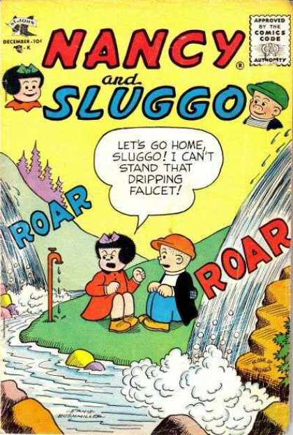 Nancy and Sluggo 139 - Approved By The Comics Code - December - Roar - Girl - Boy
