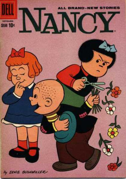Nancy and Sluggo 172 - Ernie Bushmiller - New Stories - Dell - All Brand - Flowers