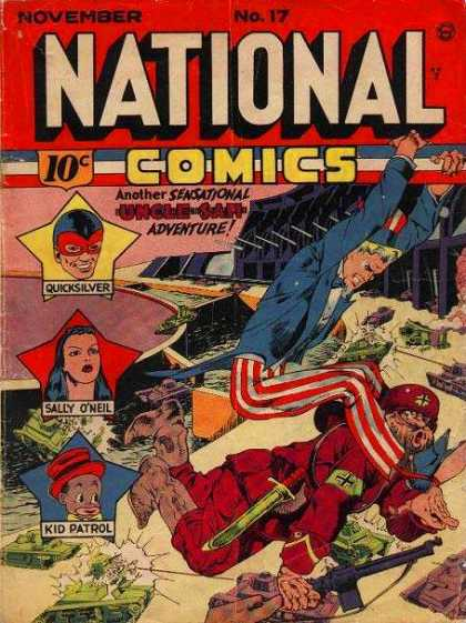 National Comics 17 - Quicksilver - Sally - Kid Patrol - Red And White Striped Pants - Sword