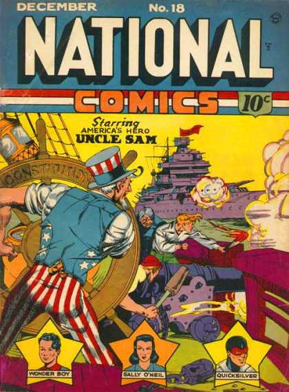 National Comics 18 - Uncle Sam - Ship On The Front - Americas Hero - Volume 18 - December Issue