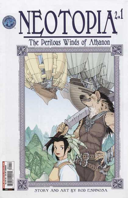 Neotopia 2 1 - The Perilous Winds Of Athanon - Sword - Ships - Rod Espinosa - Woman