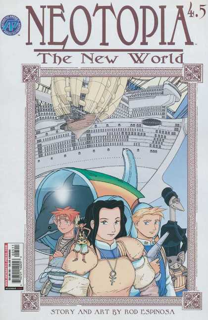 Neotopia 4 5 - The New World - Story And Art By Rod Espinosa - Airship - Dolphin - Border