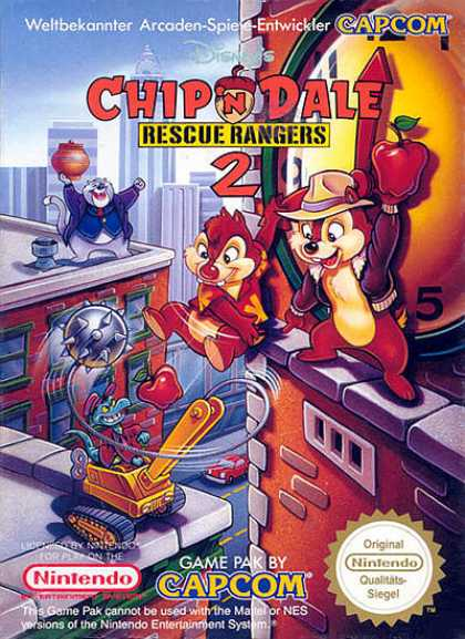 NES Games - Chip 'n Dale 2E