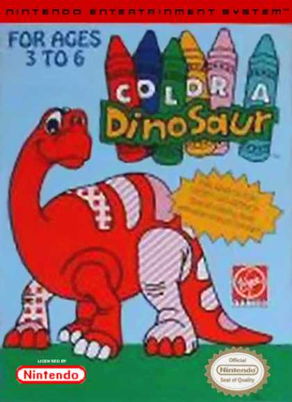 NES Games - Color a Dinosaur