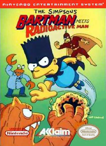 NES Games - Bartman Meets Radioactive Man