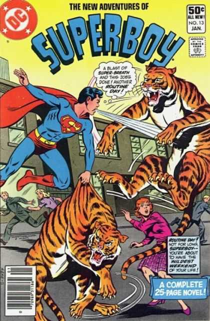 New Adventures of Superboy 13 - 50 C All New No13 Jan - Super-breath - Routine Day - Wildest Weekend - A Complete 25 Page Novel