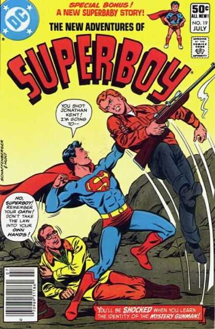 New Adventures of Superboy 19 - Jonathan Kent - Rifle - Superboy - Mystery Gunman - Superbaby