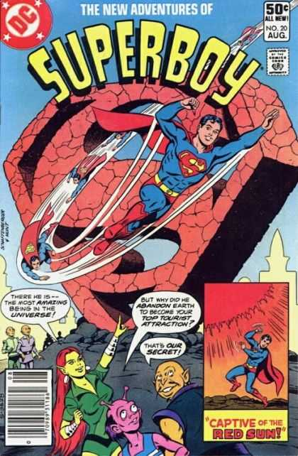 New Adventures of Superboy 20 - Captive Of The Red Sun - Universe - Abandon Earth - Our Secret - Amazing