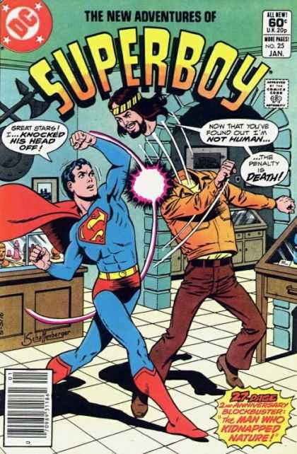 New Adventures of Superboy 25 - The Man Who Kidnapped Nature - Death - Knocked Off Head - Not Human - Fight