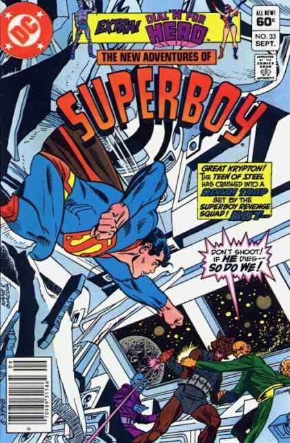 New Adventures of Superboy 33 - Outer Space - Krypton - Wolf Man - Space Ship - Hero