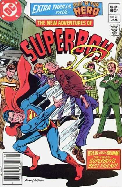 New Adventures of Superboy 37 - Dial H For Hero - Dc - Crowd - Friend - Brawn - Ross Andru