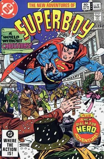 New Adventures of Superboy 39 - Dc - Snow - Trash Cans - Mask - Snow Balls