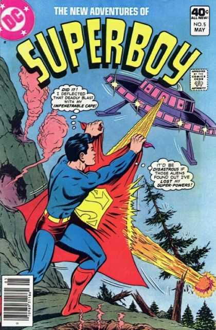 New Adventures of Superboy 5 - Superman - Ufo - Cape - Crater - Rays