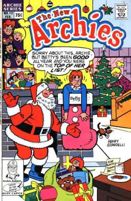 New Archies 12 - Archie Series - Santa - Presents - New Year - Christmas Tree