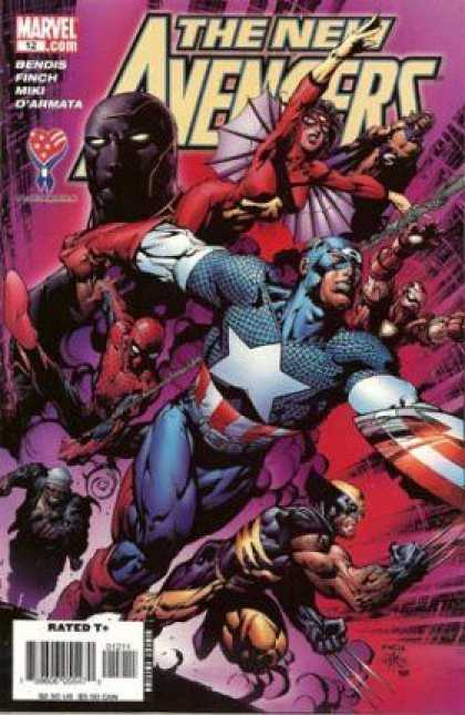New Avengers 12 - Wolverine Claws - Winged Heroes - League Of Heroes - Dark Mask - Costumes - David Finch