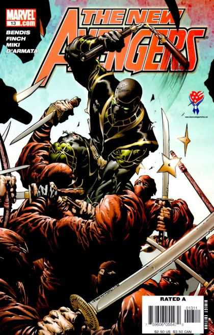 New Avengers 13 - Nunchaku - Star - Ninja - Sword - The New Avengers - David Finch