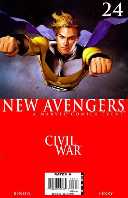 New Avengers 24 - Bendis - Ferry - Civil War - Rated A - Marvel - Adi Granov