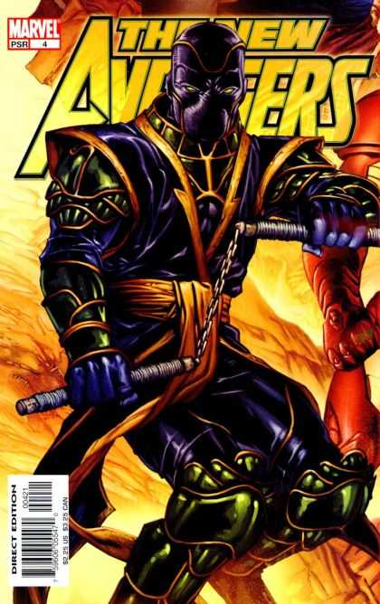 New Avengers 4 - Ninja On Front - Masked Man - Issue Number 4 - Numb Chucks - Marvel Comics - David Finch