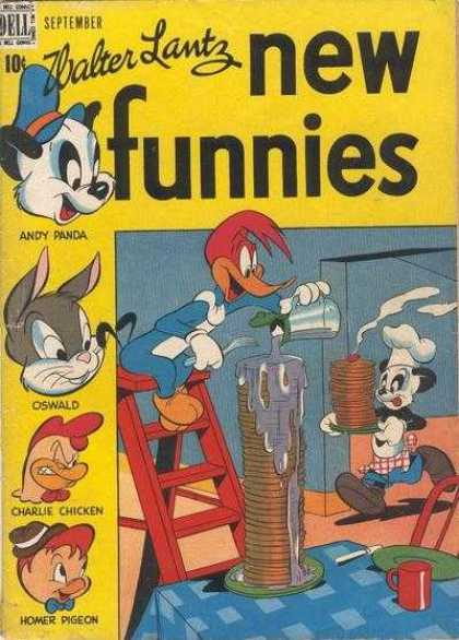 New Funnies 139 - Andy Panda - Oswald - Charlie Chicken - Homer Pigeon - Woody Woodpecker