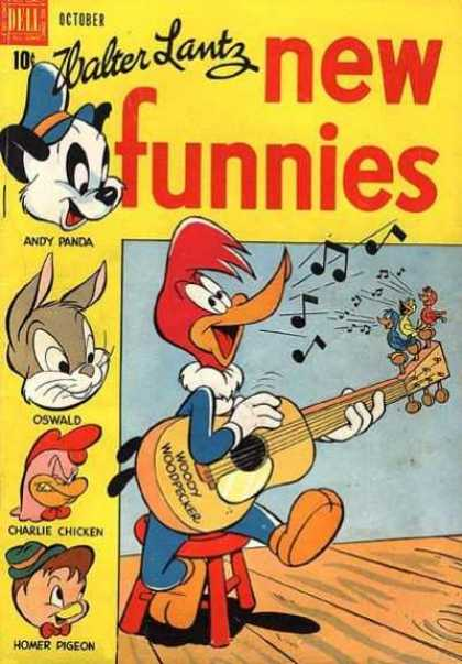 New Funnies 140 - Woody Woodpecker - Guitar - Andy Panda - Oswald - Charlie Chicken