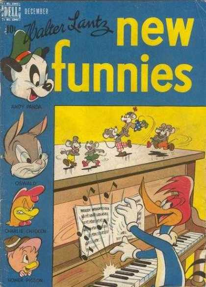 New Funnies 142 - Walter Lantz - Woody Woodpecker - Andy Panda - Oswald - Homer Pigeon