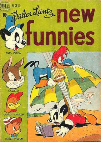 New Funnies 150 - Sand - Book - Umbrella - Magnifying Glass - Animals