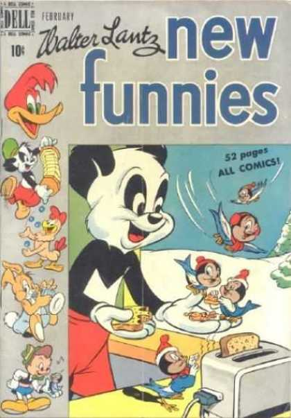 New Funnies 156 - Walter Lantz - February - Toaster - Woody Woodpecker - Snow