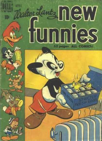 New Funnies 158 - Walter Lantz - Woody Woodpercker - 52 Pages - Baby Chics - Heater