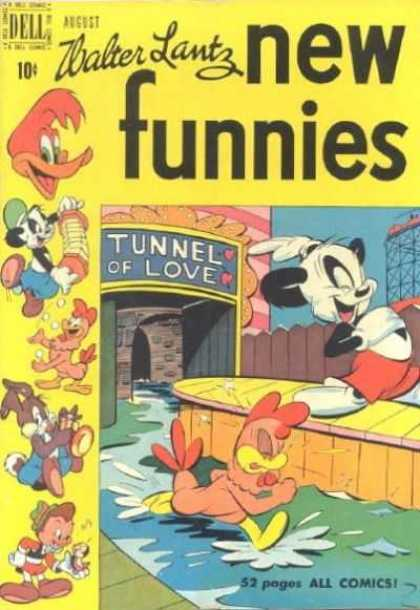 New Funnies 162 - Walter Lantz - Tunnel Of Love - Chicken - Panda - Woody Woodpecker
