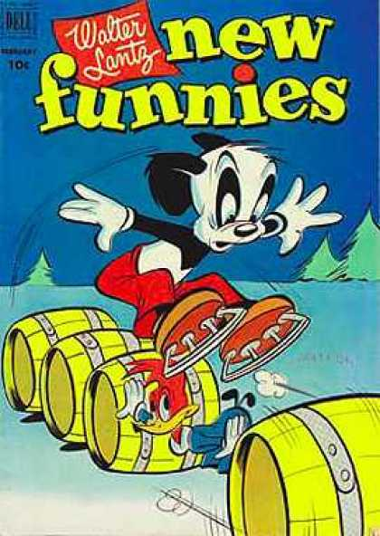 New Funnies 180 - Jumping - Barrels - Skates - Donald Duck - Trees
